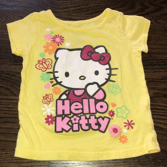 f0b701bb93db9 Hello Kitty Other - 🎀Yellow Hello Kitty T shirt🎀 Girls Size 4T🎀